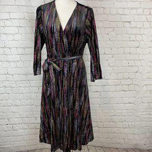 Torrid NWT Black Glitter Stripped Dress 1X